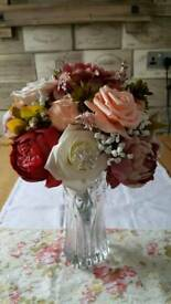 Bouquet of artificial flowers wedding