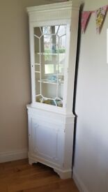 Corner cabinet in good condition but would need painted