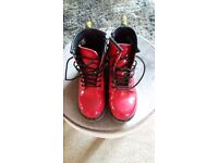Girls red Dr Martins boot's.
