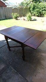 Vintage Oak Extending Table with Barley Twist legs