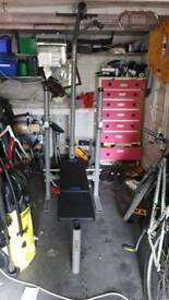 Weight training bench
