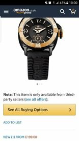 timberland watch black and gold vgc