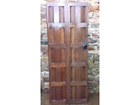 2 x Antique Solid Wooden Doors - Very bespoke design