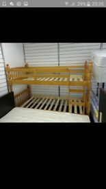 bond bed , 6 months old with new mattresses