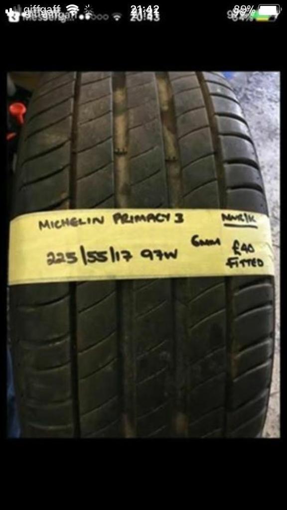 225/55/17 97W MICHELIN PRIMACY3 Tyre.
