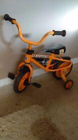 Kids jcb bike. With stabalisers