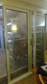 Patio door for sale - 2.4m x 2.1m - three panel with original locks