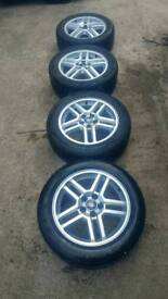 "Ford Focus C Max 16"" alloy wheels with tyres"