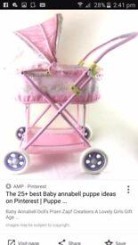 Baby anabelle dolls pram
