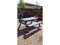 five feet 6 seater garden picnic bench