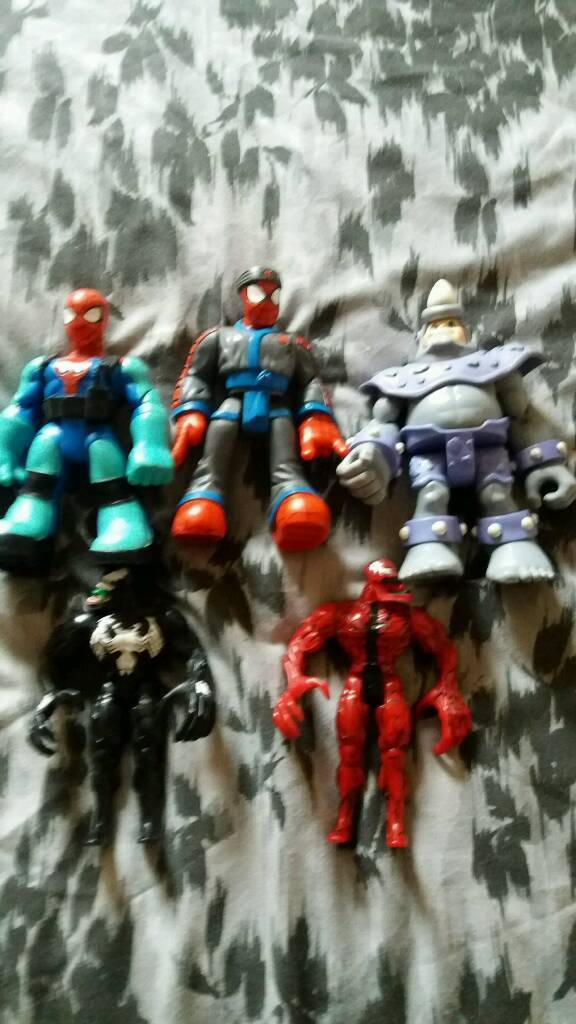 Spiderman 3 big chunky action figures &2 baddies 1 venom