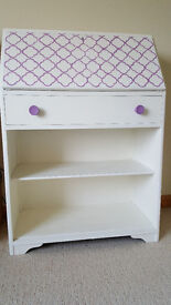 Shabby chic storage, writing bureau, hand painted, local delivery possible or by negotiation