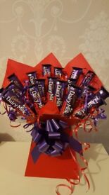 Christmas treats, chocolate hampers, wreaths and sweet cones