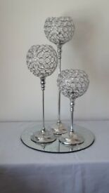 Crystal table centre pieces for sale