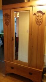 Antique wardrobe & chest of drawers