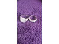 Silver ring set