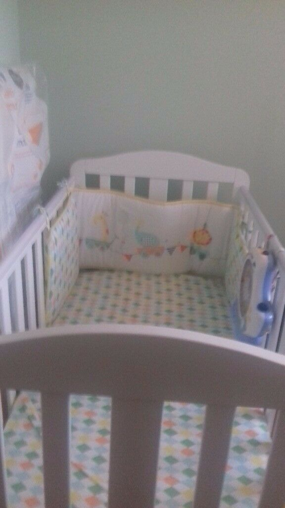 Baby cot mothercare plus new mattress