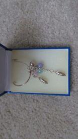 Bella real silver necklace
