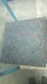 Speckled multicoloured carpet tiles