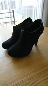 Black newlook shoes, size 6 wide fit