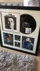 Liam Gallagher Framed 'As you were' Vinyl with commemorative plaque and signed photo