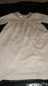 Baptism cotton  dress, other with lace