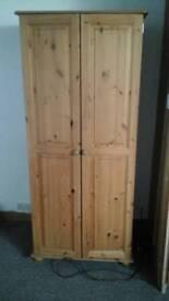 Pine wardrobe,