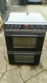Belling halogen double oven electric cooker