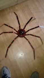 Huge metal spider sculpture. Roulette spider
