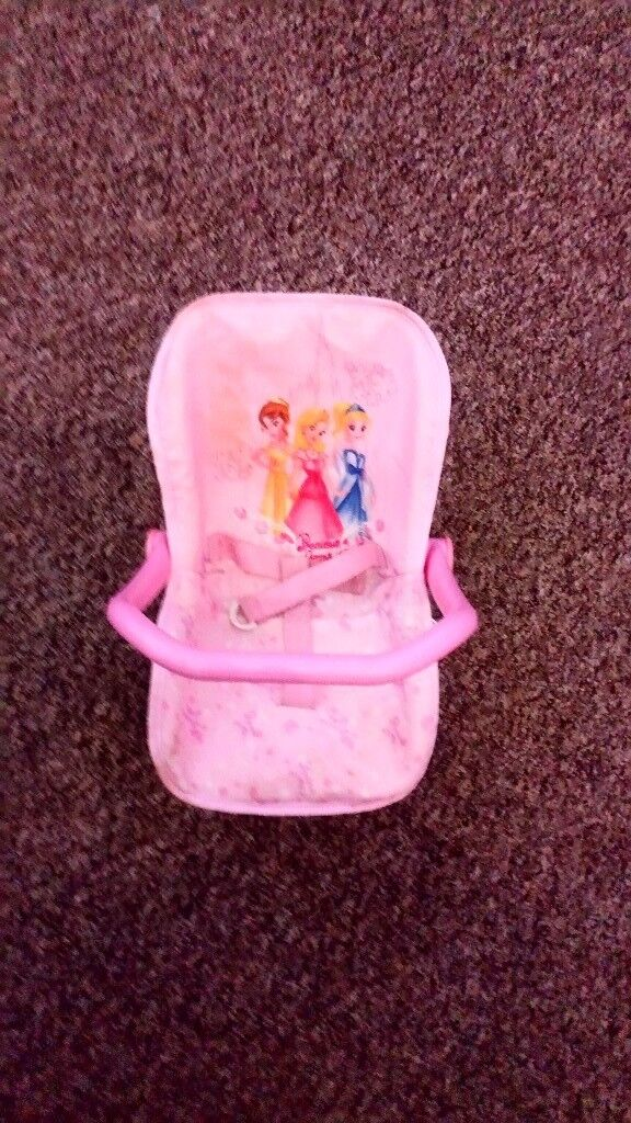 Dolls car seat princess pink excellent condition from a smoke free home