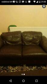 FREE LOCAL DELIVERY- BROWN LEATHER SOFA