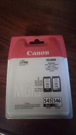 Genuine Canon 545 & 546 Ink Cartridges