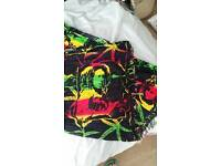 Bob marley red green and yellow sarong in good condition