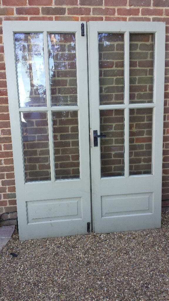 Wooden Patiofrench Doors With Sealed Double Glazed Units In
