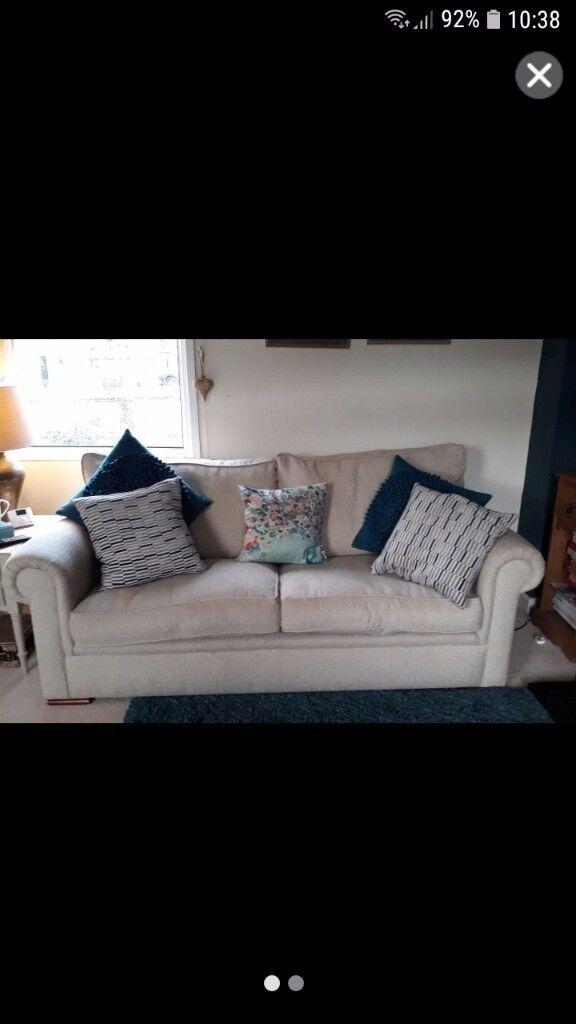 Beautiful linen oatmeal sofa