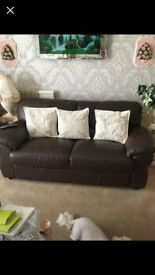 3 seat sofa and 1 recliner chair
