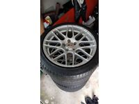 Vw t5 alloy wheels with tyres. 19 inch