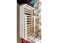 White toddle bed