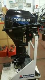 Tohatsu 15hp 4stroke long shaft outboard as new with a genuine 2 hours usage