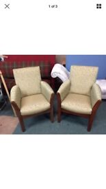 Pair of reupholstered chairs