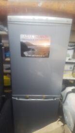 LG Fridge Freezer in grey. 172cm tall x 59cm wide x 62cm deep