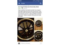 4 × 17inch allow wheels in great condition