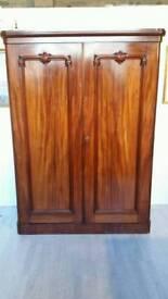 Victorian Two Doors Mahogany Wardrobe