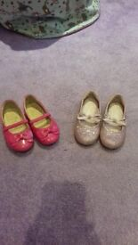 Girls pink party shoes - Size uk5 (eur22)