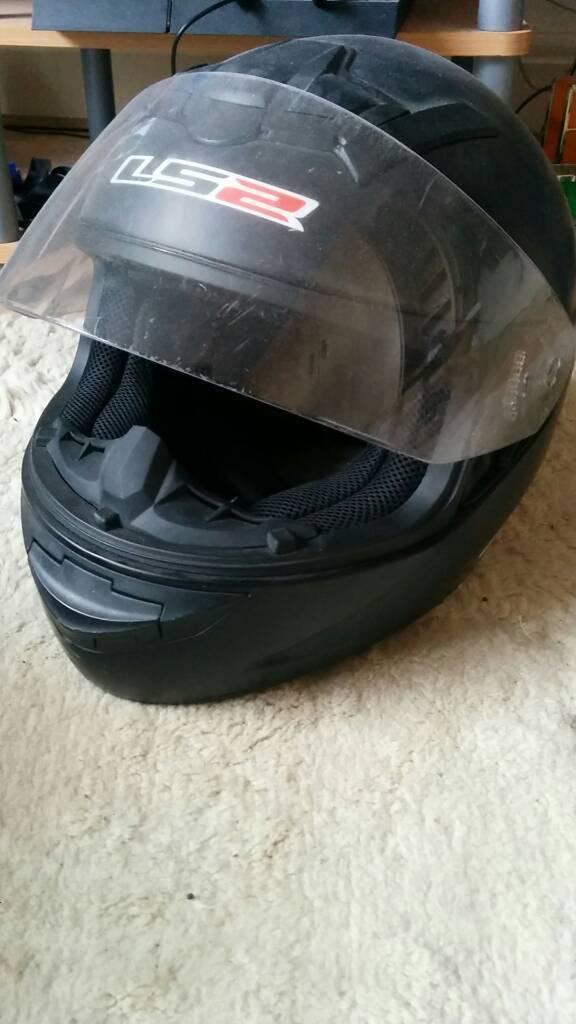 Motorbike ls2 matte black helmet