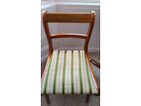 Two wooden chairs – Collection only