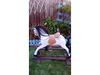 Vintage dapple grey rocking horse