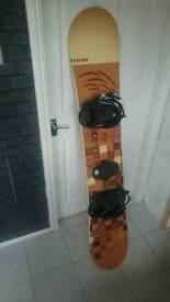 164 snowboard, option redline with Bindings
