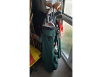 Well used Golf Clubs and bag