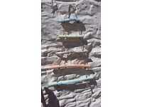 Handmade Rope Ladder Hanging Tree decoration- driftwood and pastel chalkpaint -Garden or Home